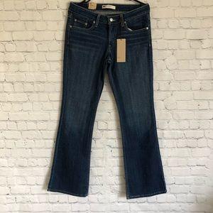 NWT 518 Blue Denim Super Low Bootcut Jeans Size 9M